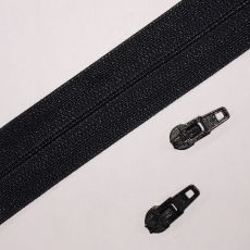 Opti Reißverschluss - 3 mm Laufschiene - schwarz