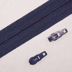 Opti Reißverschluss - 3 mm Laufschiene - jeansblau