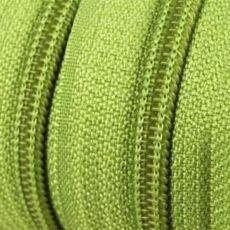 Endlosreißverschluss - 3 mm Laufschiene - gelbgrün