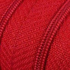 Endlosreißverschluss - 3 mm Laufschiene - rot