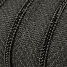 Endlosreißverschluss - 3 mm Laufschiene - mittelgrau