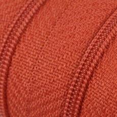 Endlosreißverschluss - 3 mm Laufschiene - ziegelrot