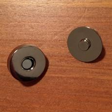 Magnetknopf - silberfarben