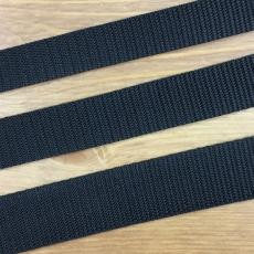 Gurtband 25 mm breit - schwarz