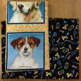 2 Fat Quarter - Hundeportraits