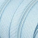 Endlosreißverschluss - 3 mm Laufschiene - hellblau