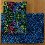 2 Fat Quarter - Dragonette blue black