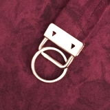 Schlüsselbandklemme mit Schlüsselring - silberfarben